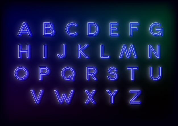 あなたのデザインのネオンアルファベットベクトルイラスト