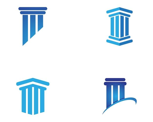 Шаблон логотипа столбца