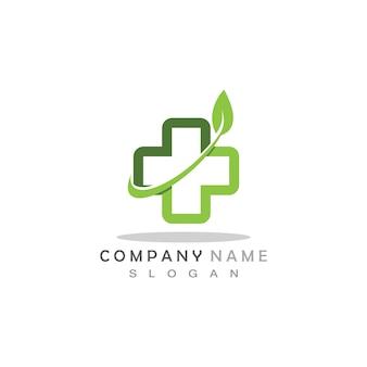 健康医療のロゴのテンプレート