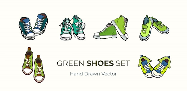 スニーカーの靴のペアの分離