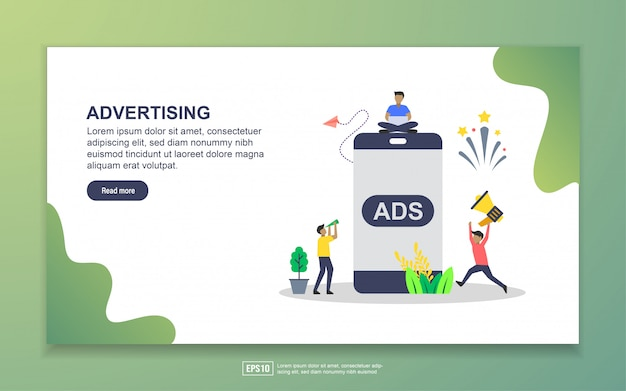モバイル広告のランディングページ