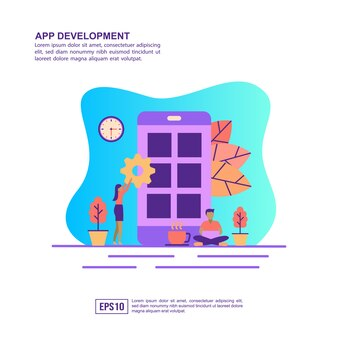 アプリ開発のベクトル図の概念