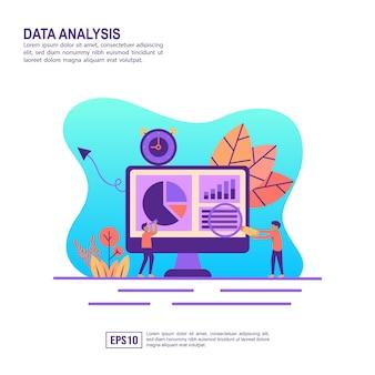 Векторная иллюстрация концепции анализа данных
