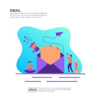 電子メールのベクトル図の概念