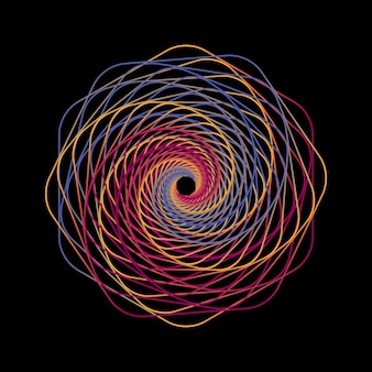 Геометрические линии художественные рамки в черном фоне