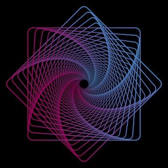 Геометрические линии искусства на черном фоне