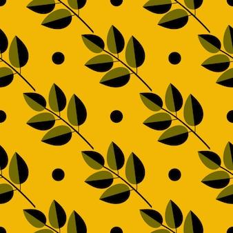 Безшовная картина иллюстрации осени с листьями. цветочный натуральный дизайн