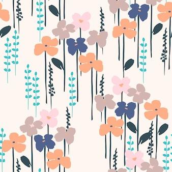 花の抽象的なシームレスパターン