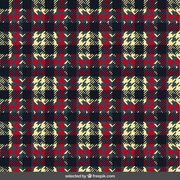 テキスタイル格子縞のパターン