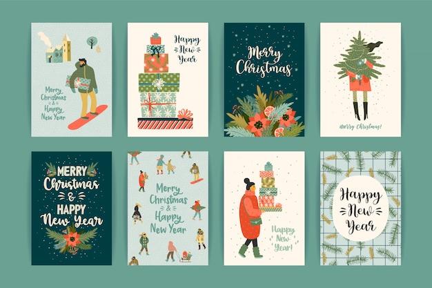 Новогодние и рождественские шаблоны.