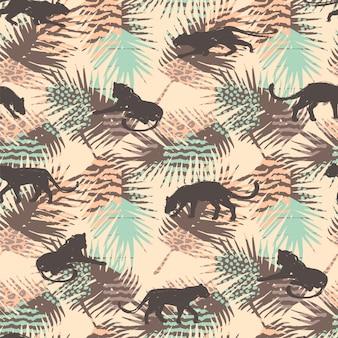 抽象的なヒョウのシームレスなパターン