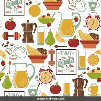 健康的な生活の概念のパターン