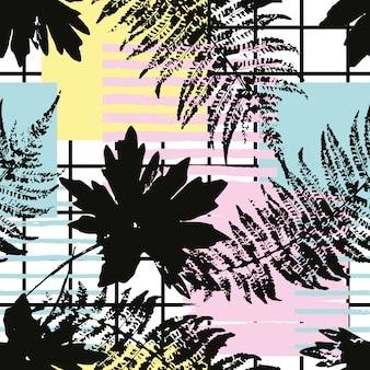 手で抽象的な幾何学的なシームレスパターンには、テクスチャが描かれています。