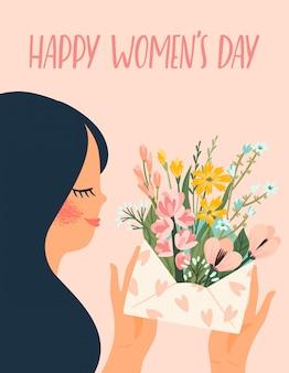 国際女性の日イラスト