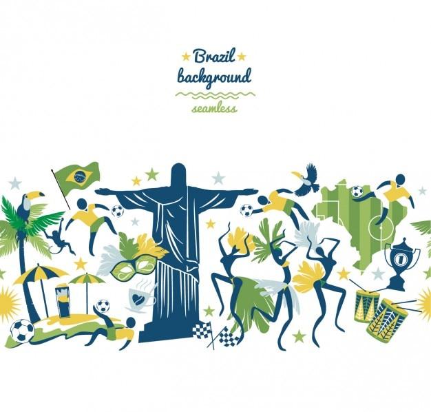 カラフルなブラジルの背景