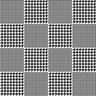 千鳥格子チェック柄のパターン