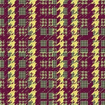 色付きの千鳥格子パターン