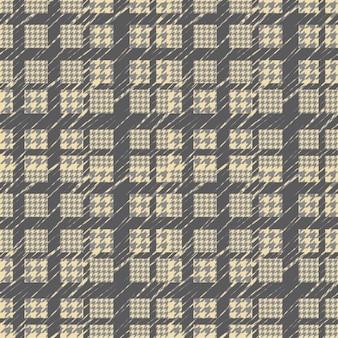 千鳥格子黄色と灰色のパターン