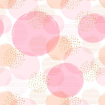 Абстрактные геометрические бесшовные шаблон с кругами.