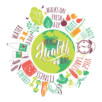 世界の健康の日のコンセプト。