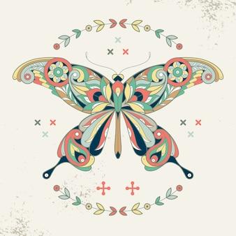 Декоративное изображение бабочки.