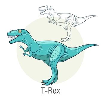 恐竜ティラノサウルス。
