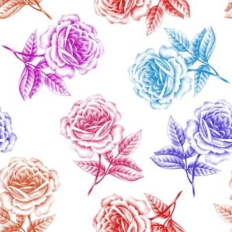 ヴィンテージのシームレスな花柄