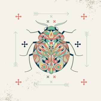 Декоративное изображение жука.