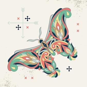 蝶の装飾的なイメージ。