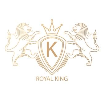 Логотип со львами.