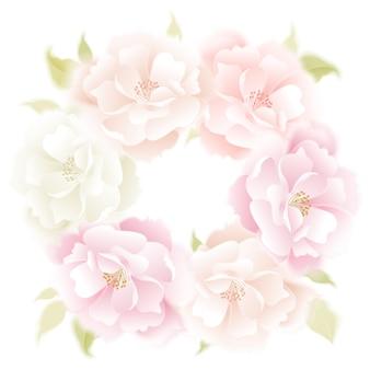 バラのベクトルの背景。