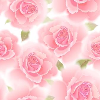 バラとのシームレスなパターン。