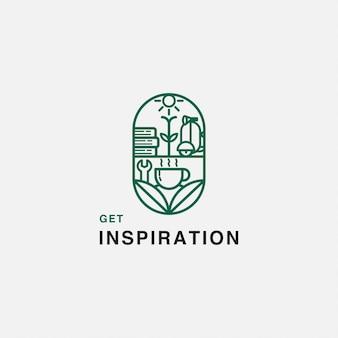 Логотип вдохновения кафе