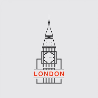 Значок логотипа города лондона