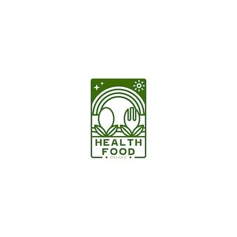 Логотип или логотип минималистский свежих продуктов