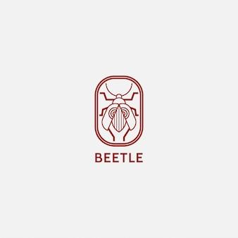 Логотип насекомое с линией в стиле арт