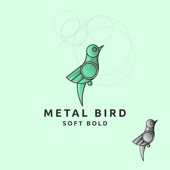 Значок логотипа птица с кругом
