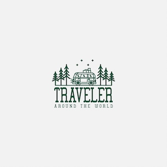 Туристический логотип премиум