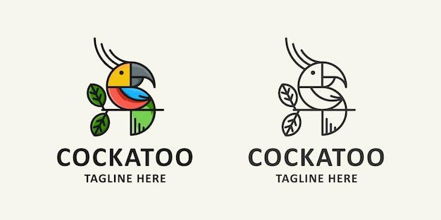 鳥とアイコンのロゴ