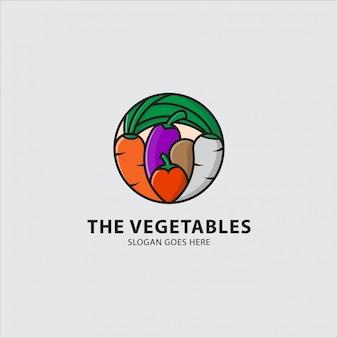 Логотип различных видов овощей