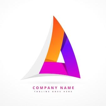 抽象的なカラフルな三角形のロゴ