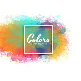 さまざまな色の抽象的な水彩の汚れの背景