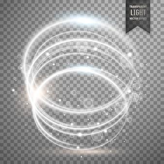 円形の白い透明な光の効果の背景