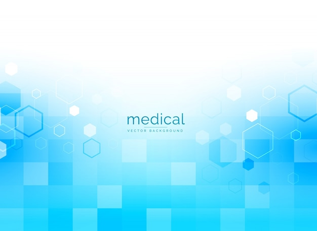 Медицинский фон в ярко-синем цвете