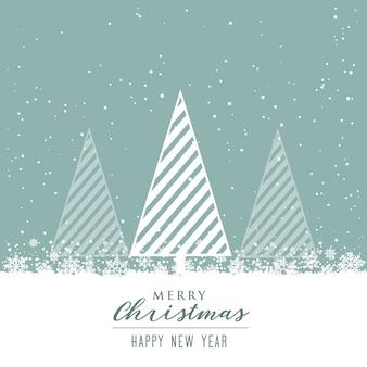 創造的な木のデザインと美しいクリスマスの背景