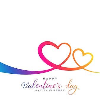 Стильные яркие яркие два сердца на день святого валентина