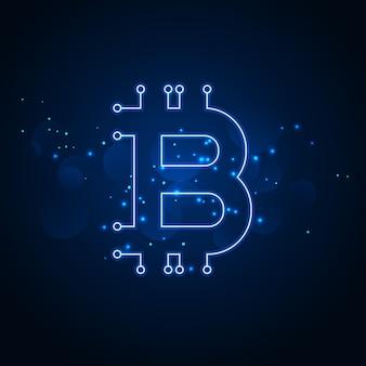 Цифровой фон сети технологии биткойнов