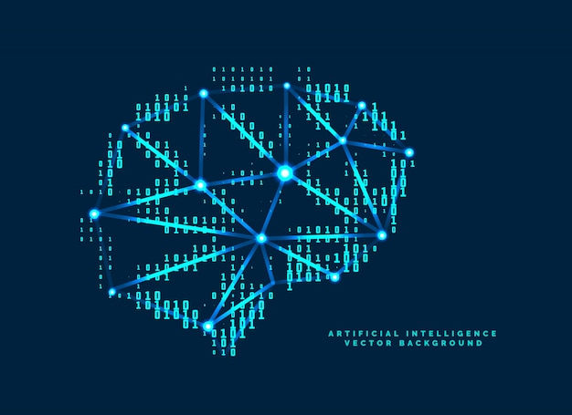 Цифровой дизайн мозга с концепцией технологических чисел