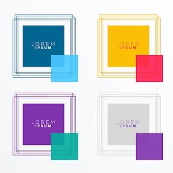 多くの色の正方形のバナー