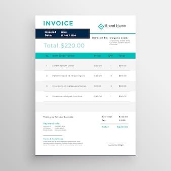 Современный шаблон шаблона счета для вашего бизнеса